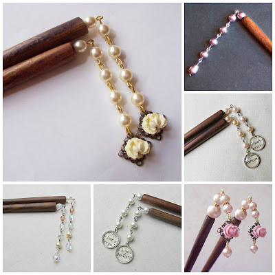image hair sticks two cheeky monkeys jewellery jewelry beaded pearls swarovski crystal jane eyre atticus finch to kill a mockingbird handmade
