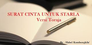 Lirik Lagu Surat Cinta Untuk Starla Versi Toraja