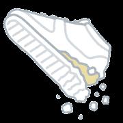 加水分解したスニーカーのイラスト