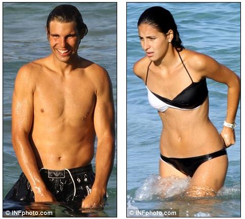 All New Tattoo 2011 What Wimbledon Defeat Rafael Nadal Doesn T Have A Care In The World As He Hits The Beach With Stunning Girlfriend Maria