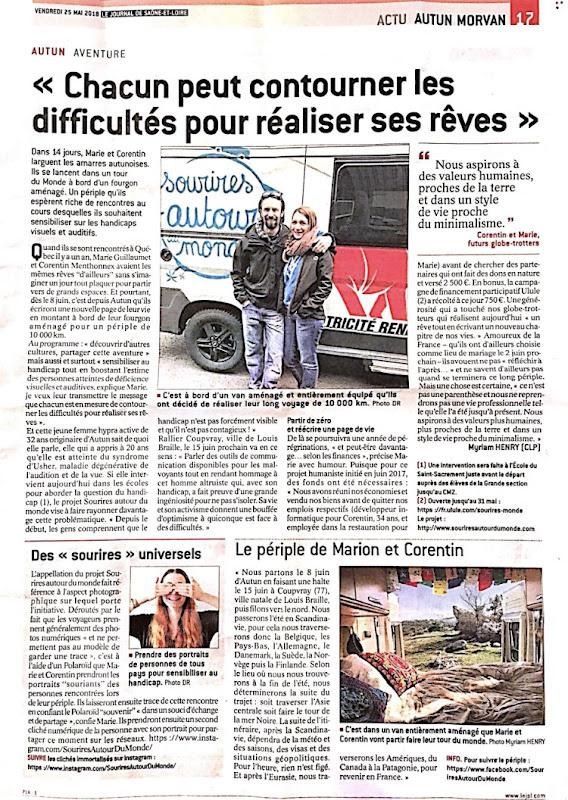 Article dans Le journal de Saône-et-loire