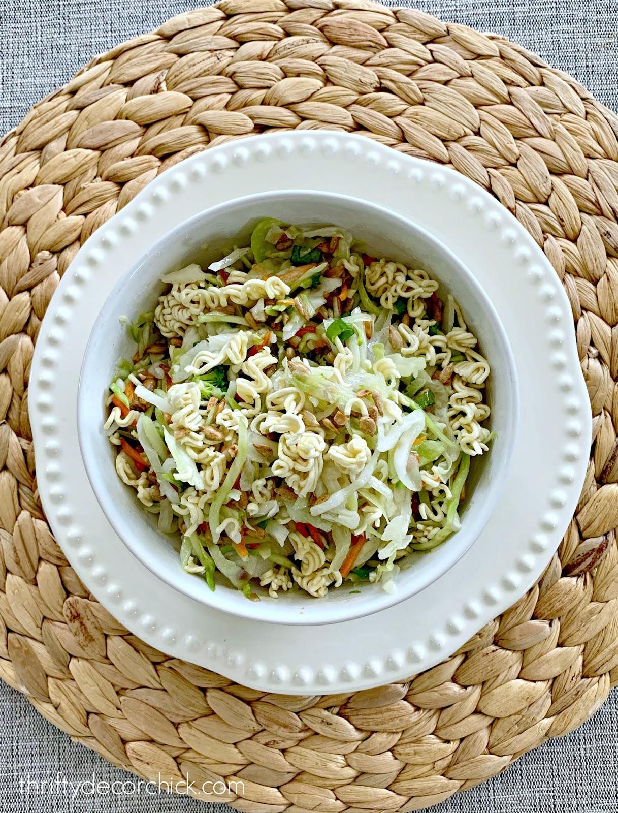 Fresh slaw ramen noodle salad