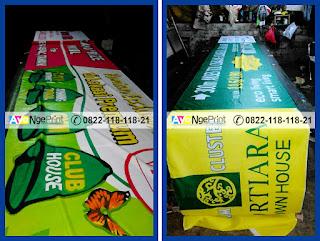 cetak spanduk kain dan umbul-umbul promosi perumahan