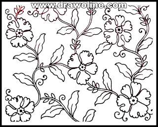 how to draw embroidery designs on sarees/all over embroidery designs/hand embroidery allover saree design.
