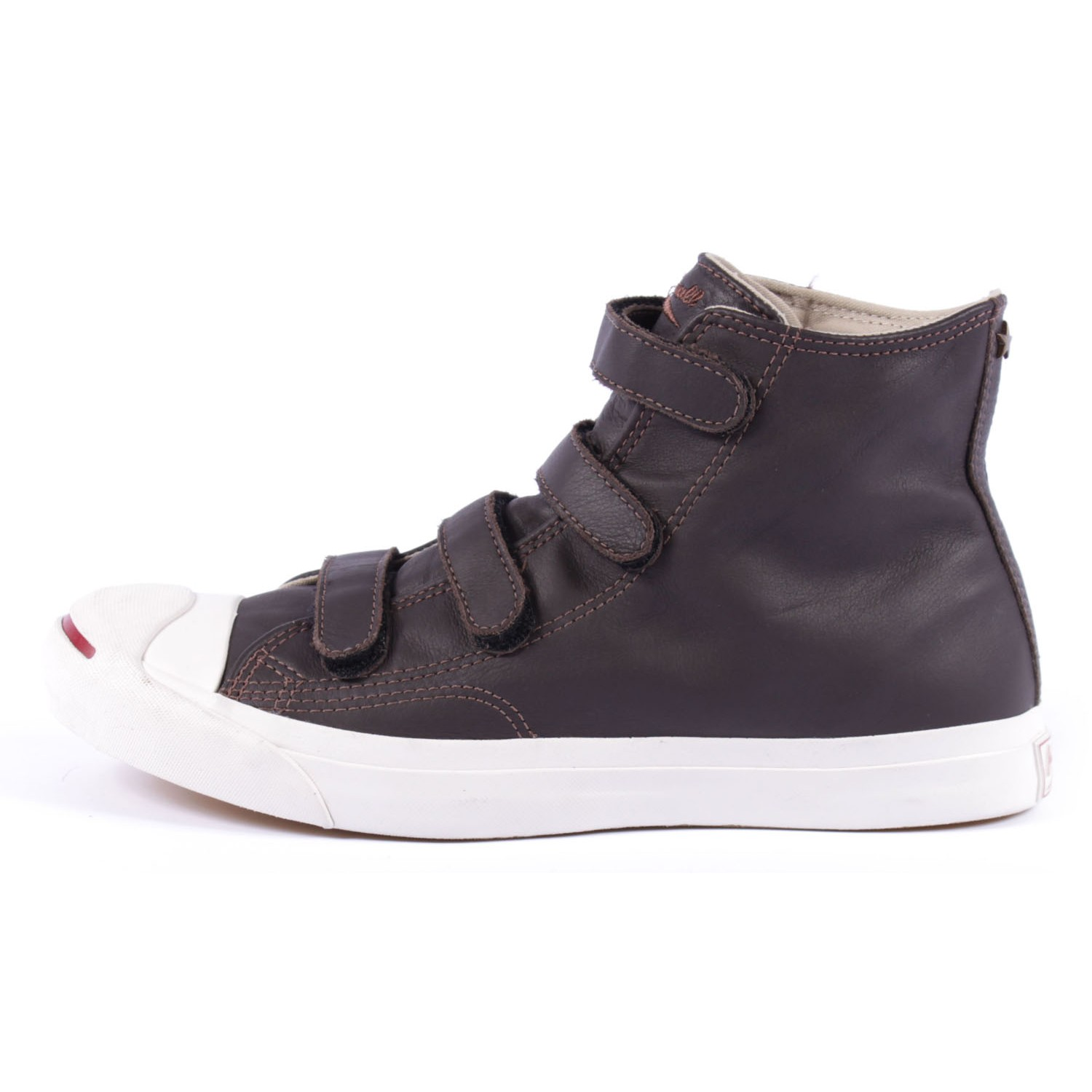 42d10118f17f Unofficial Jack Purcell  Jack Purcell Hi Velcro - Brown Leather