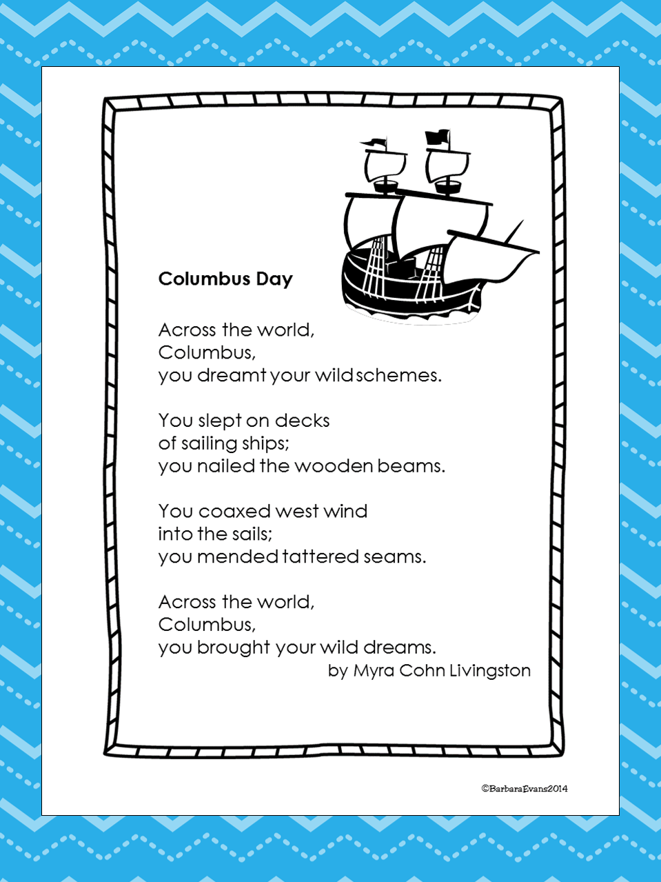 It's About Time, Teachers!: Columbus Day Poem