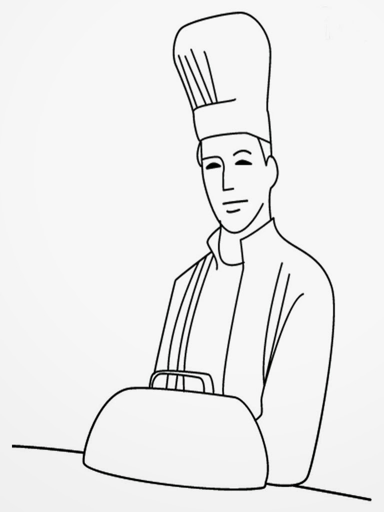 chef hat coloring coloring pages