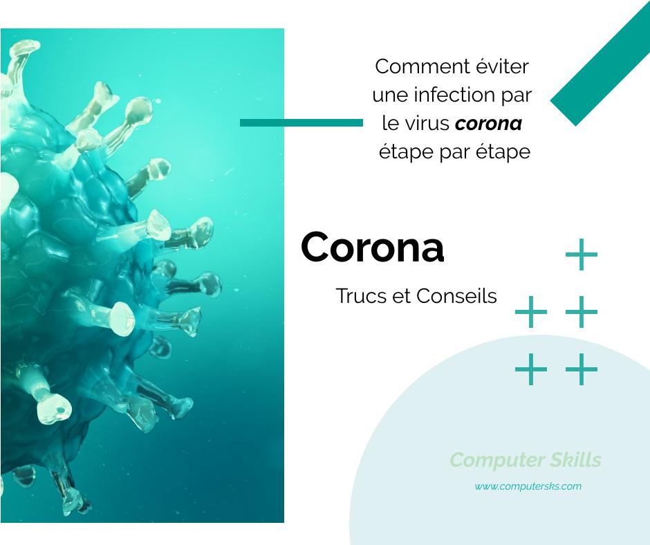 Comment éviter une infection par le virus corona étape par étape