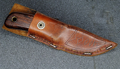 Marttiini Explorer, Explorer with rosewood handle, leather sheath.