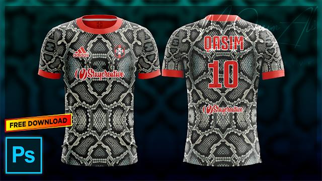 Python Style Football Shirt Design Tutorial Free Yellow Image Mockup Download by M Qasim Ali