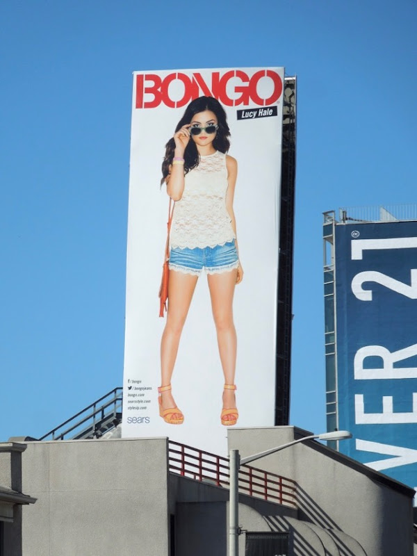 Lucy Hale Bongo clothing billboard