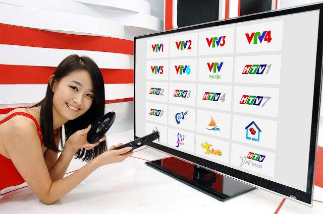 quảng cáo Banner đặt trên các khung giờ chương trình của đài tivi như VTV 1, VTV 3