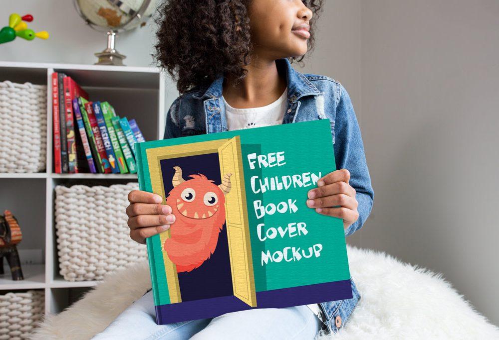 Children's Book Cover Mockup
