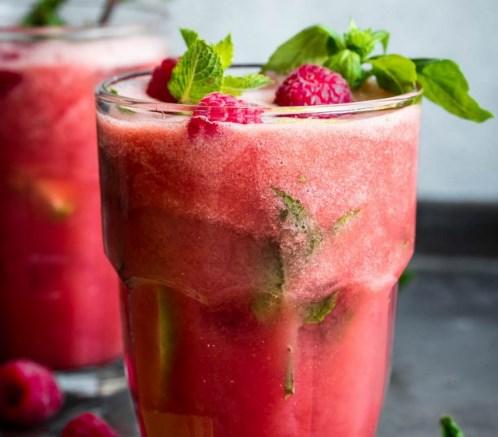 Watermelon Basil Cooler #drinks #fruit