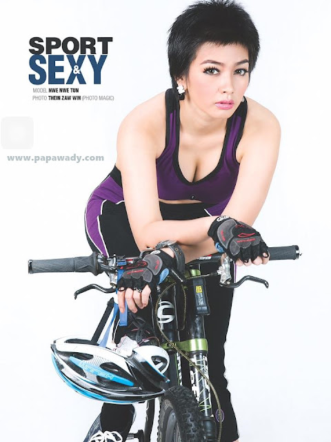 Nwe Nwe Htun - Let's Go For Cycling Photoshoot