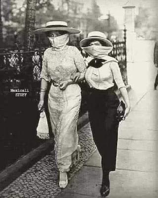 Foto tomada durante la pandemia de gripe española en 1919