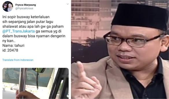 """Protes Sopir Bus Transjakarta yang Putar Lagu Islami, Akun Ini """"Dihajar"""" Mustofa Nahra"""