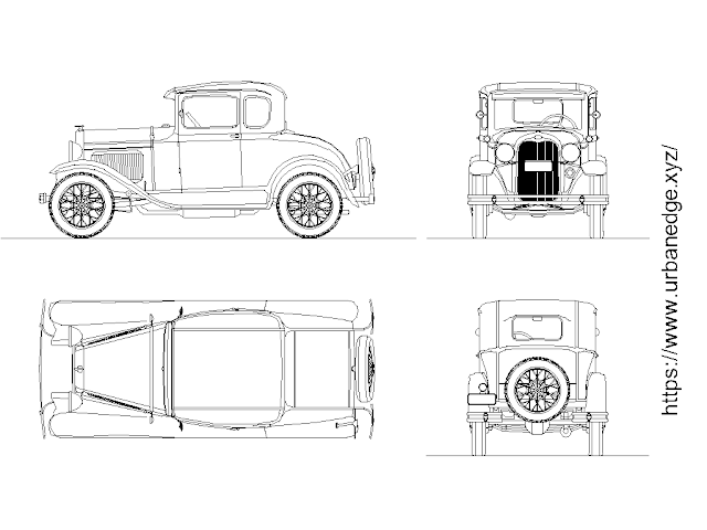 Ford car cad block free download - Car Plan and Elevations