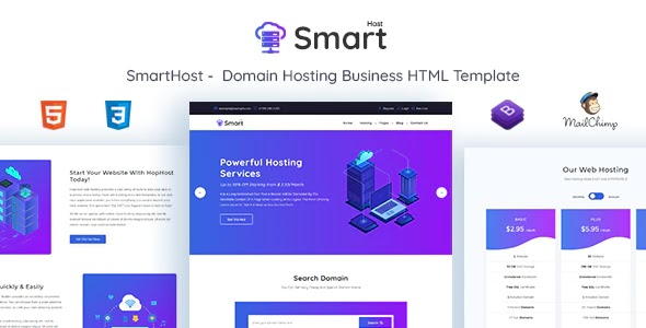 Domain Hosting Business Template