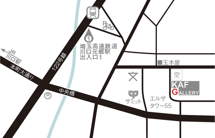 KAF GALLERY 地図