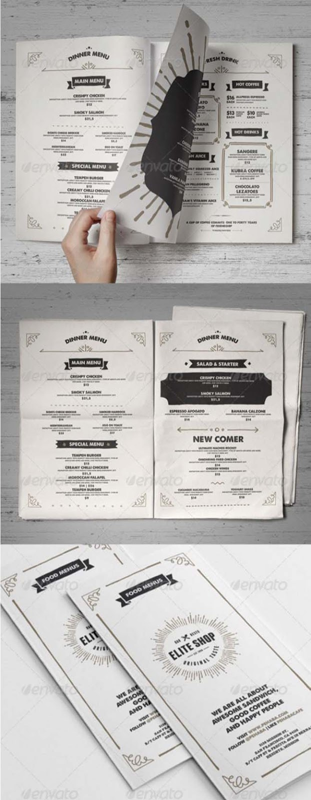30 Restaurant Food Menu Templates InDesign & PSD 2016 - Designsmag.org