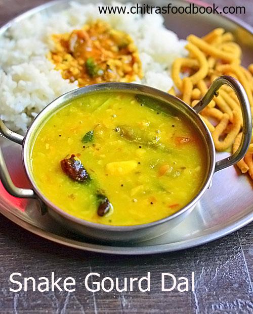 Snake gourd dal recipe