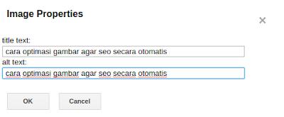 cara optimasi gambar title text dan alt text pada postingan