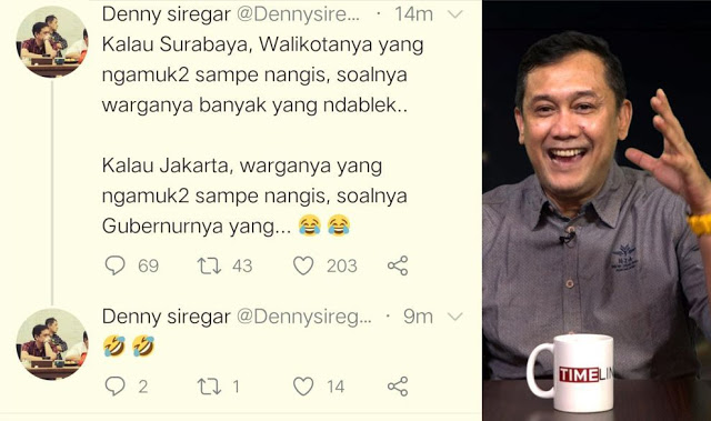 Demi Bela Risma, Denny Siregar Jatuhkan Warga Surabaya