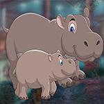 Games4King - G4K Rescue The Vigorous Hippo Family Game