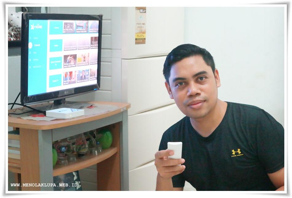 XL Home Pow Android TX Box dengan banyak channel yang menarik