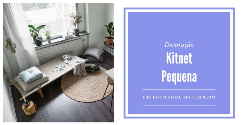 kitnet pequena - minimalista