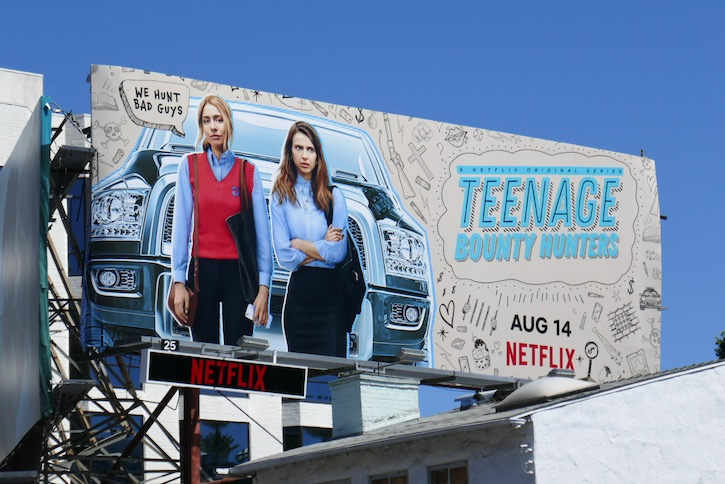 Teenage Bounty Hunters series premiere billboard