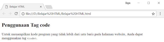 Tag code