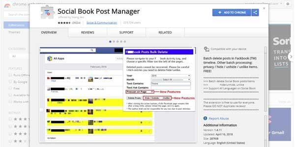 menghapus status lama facebook sekaligus