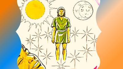 José sonha com a lua e as estrelas