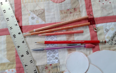 Prismacolor pencils to mark a quilt