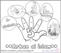 Familia musulmana y educación: Ficha colorear Arkan al Islam.