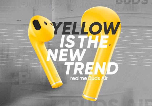 Realme Buds Air Warna Kuning Hadir di Indonesia
