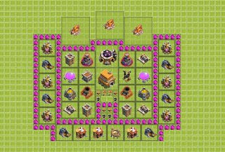 Base Clash of Clans Terbaik TH 6 Hybrid