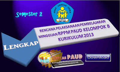 Contoh RPPM PAUD Keompok B Semester 2 Lengkap Kurikulum 2013