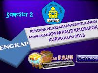 Contoh RPPM PAUD Kelompok B Semester 2 Lengkap Kurikulum 2013