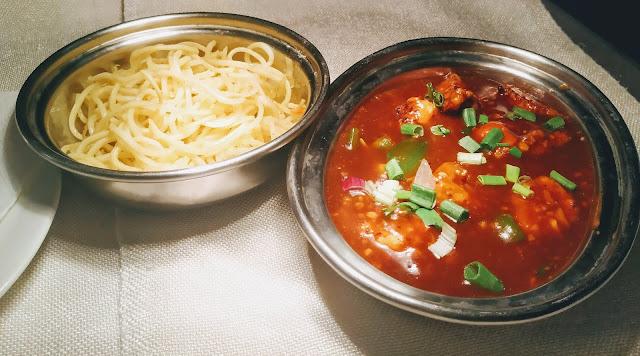 Chilli Paneer gravy and noodles for Chilli Paneer gravy recipe