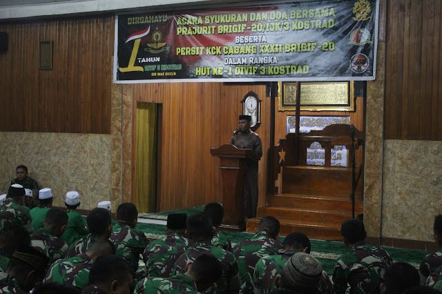 Brigif 20 Kostrad dan Yonif 754 Kostrad Gelar Syukuran HUT Ke-1 Divisi Infanteri 3 Kostrad di Timika