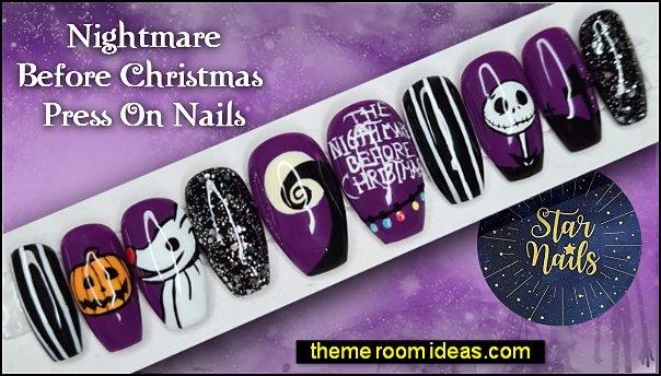 The Nightmare Before Christmas Halloween Press-On Nails The Nightmare Before Christmas Halloween decorating