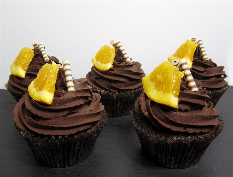 Schokoladen-Orangen-Cupcakes