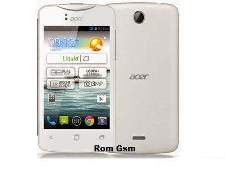 Firmware Download Acer Z130/Acer Liquid Z3 Single Sim