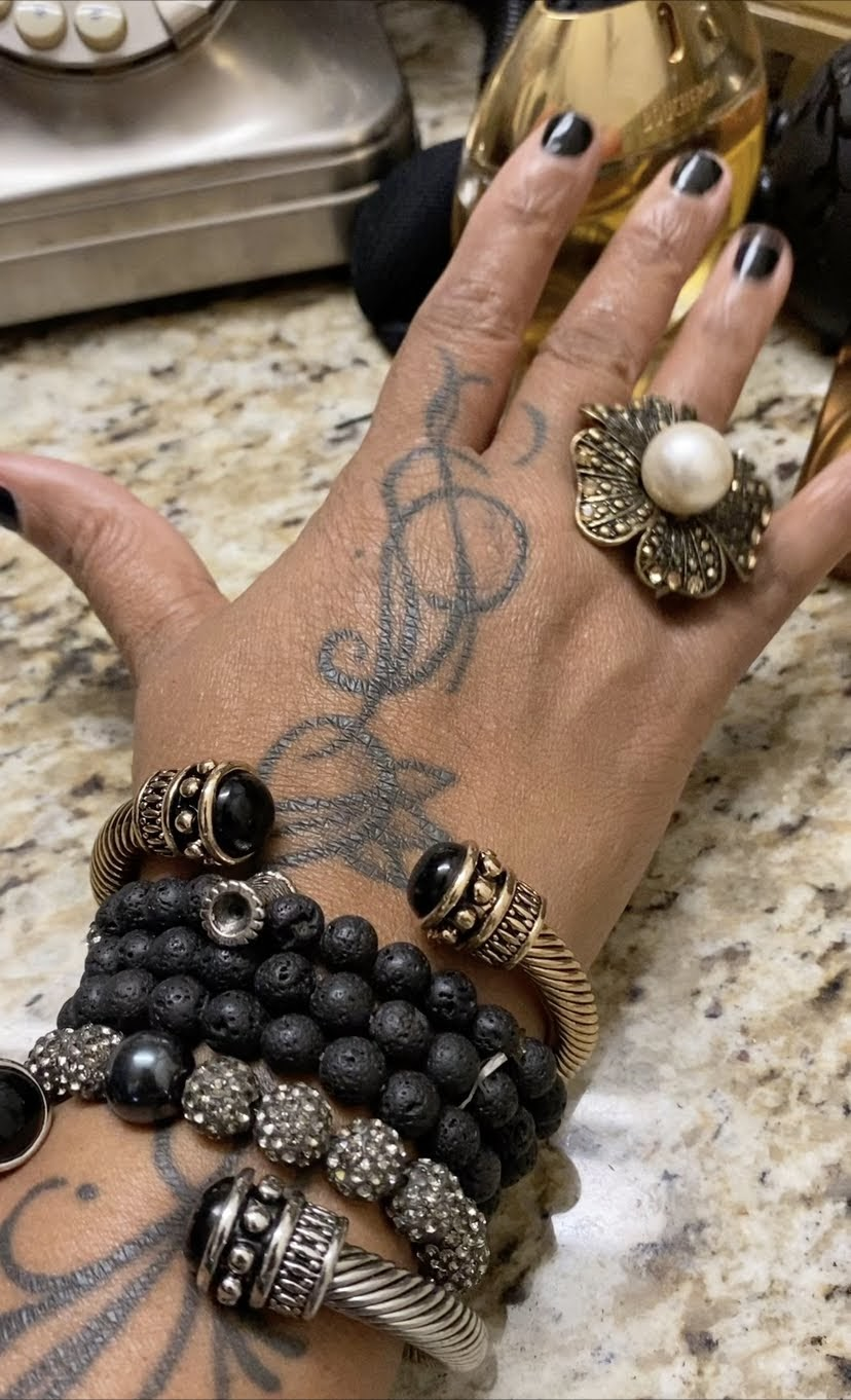 Metal and Beaded bracelets for a Gothic and grunge style