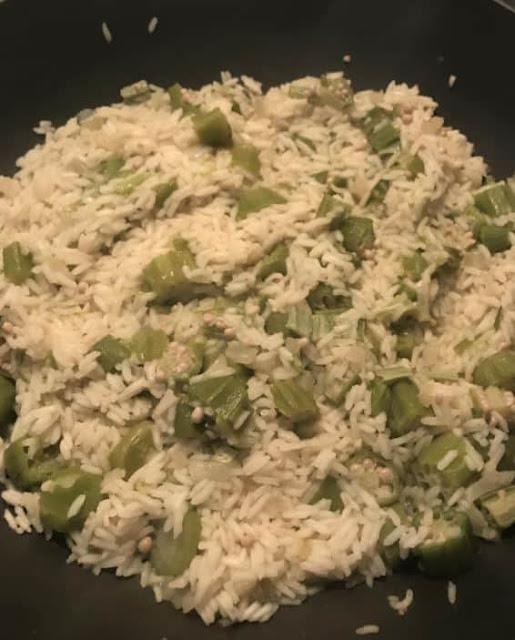 وصفة أرز بامية / Okra Rice Recipe