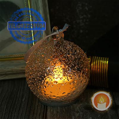 Nến tealight hình quả cầu thuỷ tinh