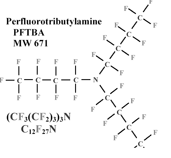 PFTBA (Internal standard of Gc-MS) Why not use PFTBA?